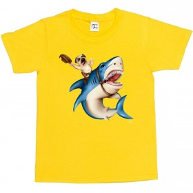 Child's Shark Pug T-Shirt (Available in 5 colours)