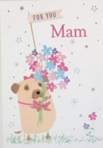 Extra Large Pug Mam Birthday Card