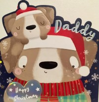 Extra Large Daddy Pug Christmas Card