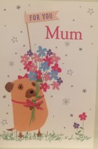 Cute Large Pug Mothers Day Card