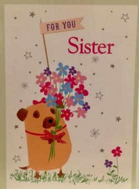 Cute Sister Birthday Card