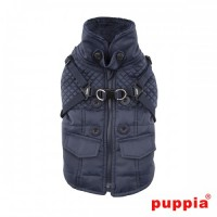 Puppia Navy Fleece Lined Wilkes Coat