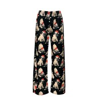 Ladies Pug Santa Luxury Pj Bottoms