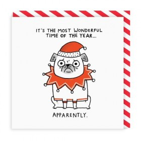 Pug Christmas Card By Gemma Correll