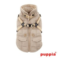 Puppia Beige Fleece Lined Wilkes Coat