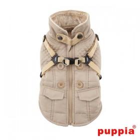 Puppia Beige Fleece Lined Wilkes Coat