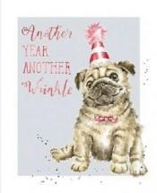 Sweet Pug Birthday Card