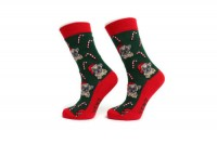Ladies Cute Christmas Socks (Size 4-7) Free Candy Pug Bag