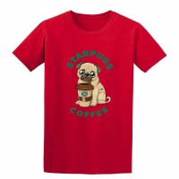 Unisex Star Pugs T Shirt (Available in 8 colours)
