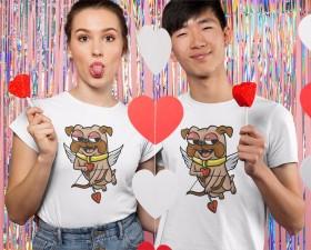 Ladies & Unisex Cupid Pug T Shirt