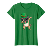 Ladies St Paddy's Day Dabbing Pug Ladies T Shirt (Available in 2 colours)