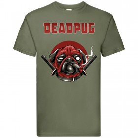 Deadpool Pug Unisex T Shirt (Available in 3 colours)