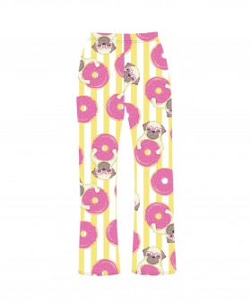 Cute Ladies Pug Pj Bottoms