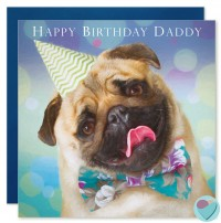Pug Daddy Birthday Card
