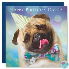 Pug Daddy Birthday Card