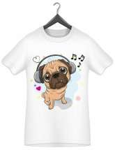 Child's Pug Music T Shirt