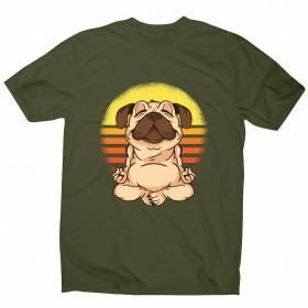 Meditating Pug Unisex T Shirt (Available in 11 colours)