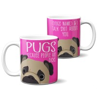 Exclusive Personalised Fawn Pug Mug