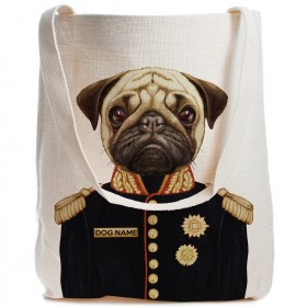 Exclusive Pug Personalised Canvas Bag