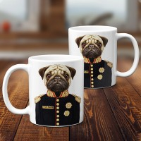 Exclusive Personalised Pug Mug