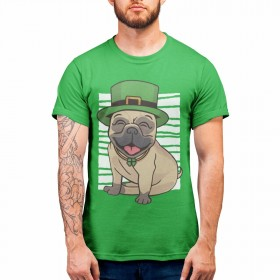 St Paddy's Day Pug Unisex T Shirt