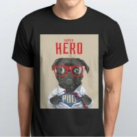 Cool Superhero Pug Unisex T Shirt