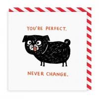 Cute Pug Blank Card By Gemma Correll