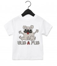 Cute Unisex Pug Toddlers T Shirt