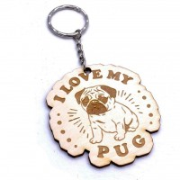 I Love my Pug Keyring