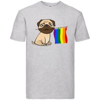 LGBT Unisex Pug T Shirt ( Available in 4 colours)