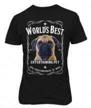 Unisex Pug T Shirt (Available in 2 colours)