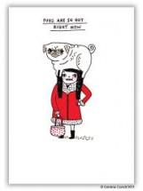 Funny Pug Blank Card By Gemma Correll