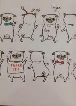 Funny Pug Blank Card By Gemma Correll -Limited Edition