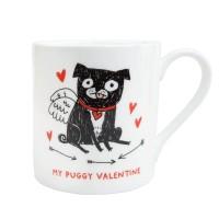My Puggy Valentine Mug By Gemma Correll