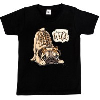 Girls Cute Pug T Shirt