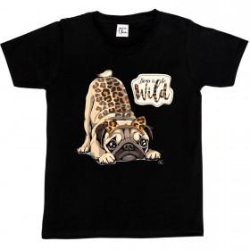 Girls Cute Pug T Shirt