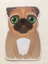 Cute Pug Pug Shaped Blank Card