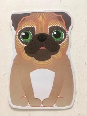 Cute Pug Pug Shaped Blank Card