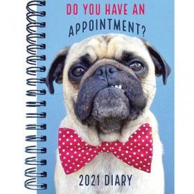 Large A5 Cute Pug 2021 Diary