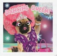 Dancing Pug  Blank Card