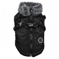Puppia Black Fleece Lined Donavan Coat