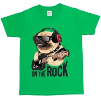 Child's Funny Pug Rock T-Shirt