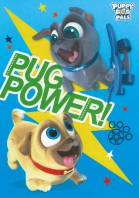 Pug Power Postcard