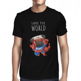 Unisex Save The World Pug T Shirt