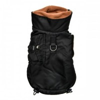 Puppia Black Fleece Lined Tomas Coat