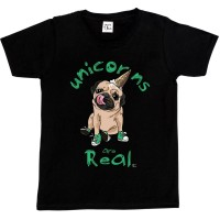 Child's Funny Pug Unicorn T-Shirt