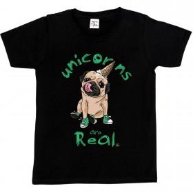 Child's Funny Pug Unicorn T-Shirt