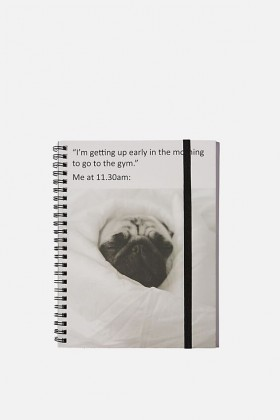 Funny Pug A5 Notebook