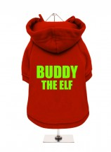 Funny Buddy The Elf Christmas Fleece Lined Hoodie