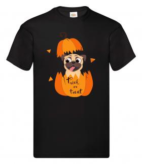 Kids Halloween Pug Pumpkin Unisex T Shirt